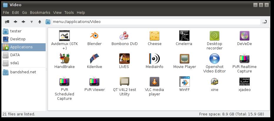 Скриншоты AV Linux 5.0: видеомонтаж в Linux